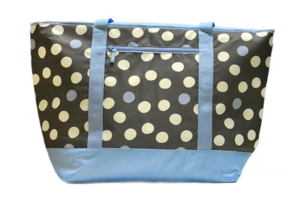 Cooler Insulated Mega Tote Bag  XXL Polka Dot Print for Hot & Frozen Food NWT