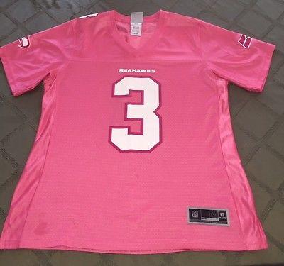 Pink Seattle Seahawks Russel Wilson (Unique) Jersey, #3 , Size M, NFL ProLine
