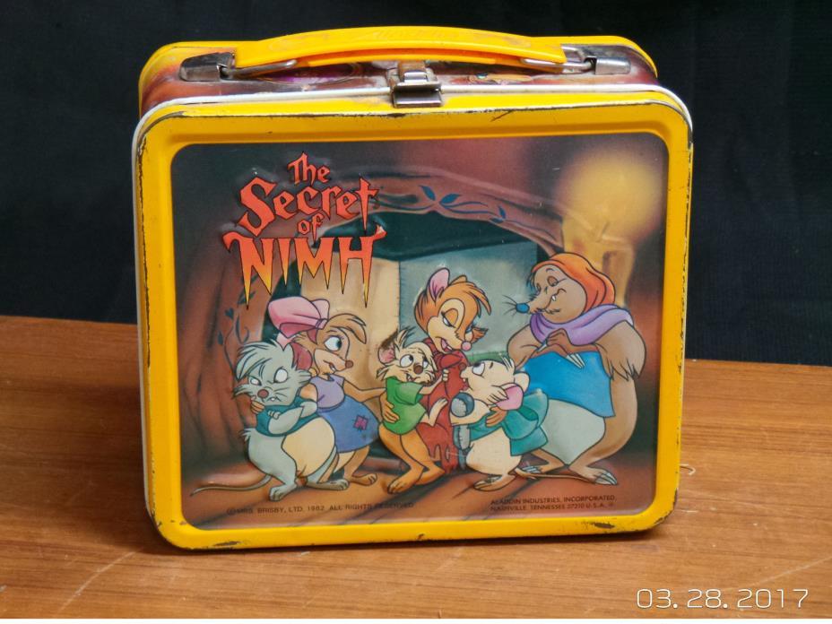 The Secret Of Nimh 1982 Metal Lunch Box Aladdin
