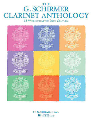 G Schirmer Clarinet Anthology Piano 20th Century Classical Sheet Music Book NEW