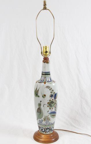Ken Edwards Rare Mexican Pottery Table Lamp Vintage El Palomar Bottle Vase