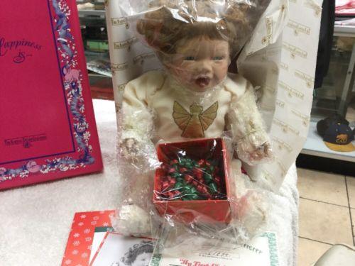 Ashton Drake Joy My First Christmas Porcelain Doll Kathy Barry Hippensteel