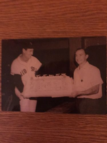 RARE Ted Williams Birthday Original Kodak Photo 1948