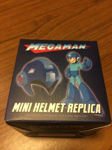 Capcom Mega Man Red Mini Helmet With Base New
