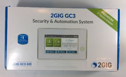 2GIG GC3 345 WIRELESS SECURITY AND AUTOMATION SYSTEM ALARM