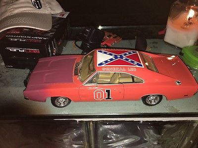 ertl race day general lee 1/18 die cast rare