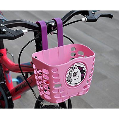 Childhood Childrens Bicycle Basket Kids Accessories - Two Colors for Choice