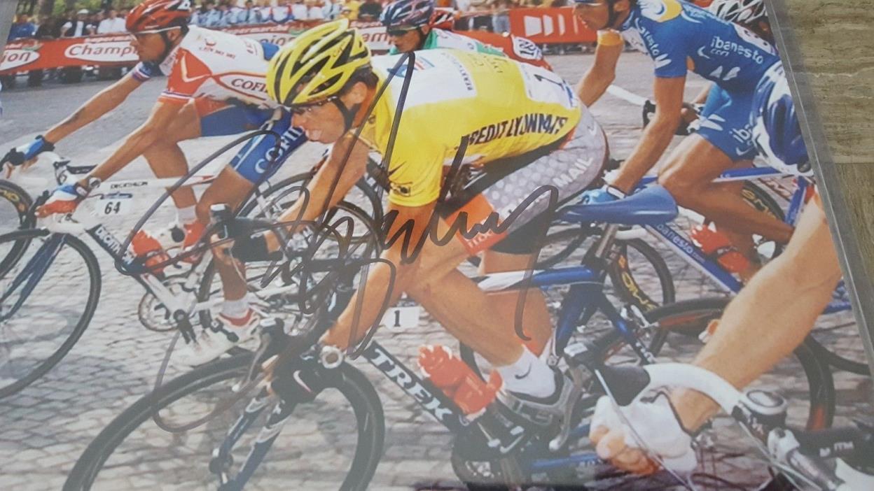 Signed Lance Armstrong Print Tour De France