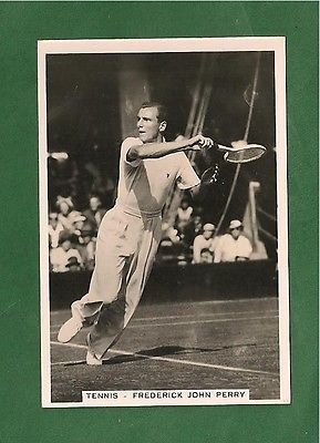 FRED PERRY Last English Tennis Player to win WIMBLEDON Table Tennis 1935 card