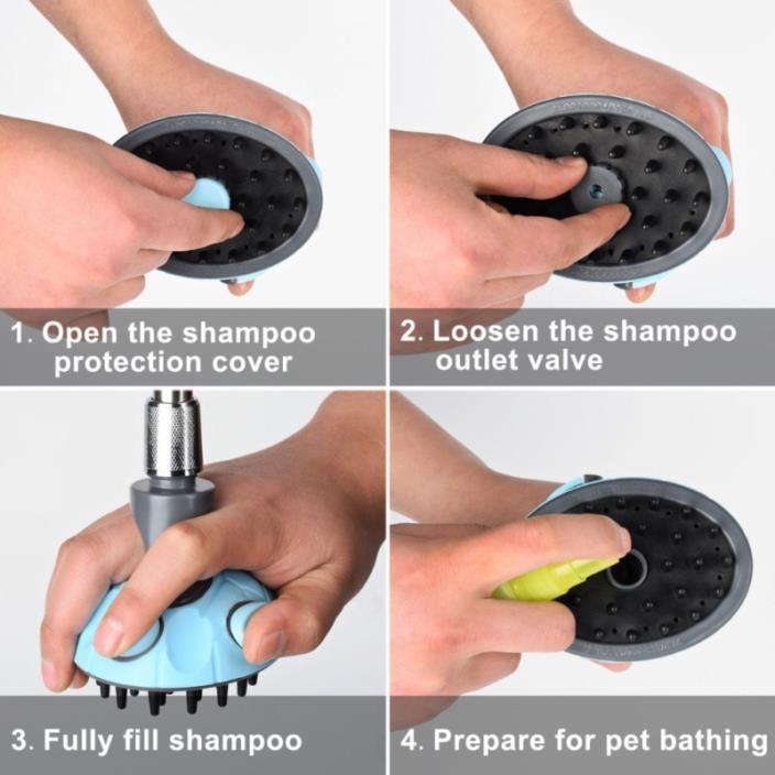 ihoven Dog Bath Shower Head Spray Bathing Tub Pet Grooming Brush Cat Nail Clippe