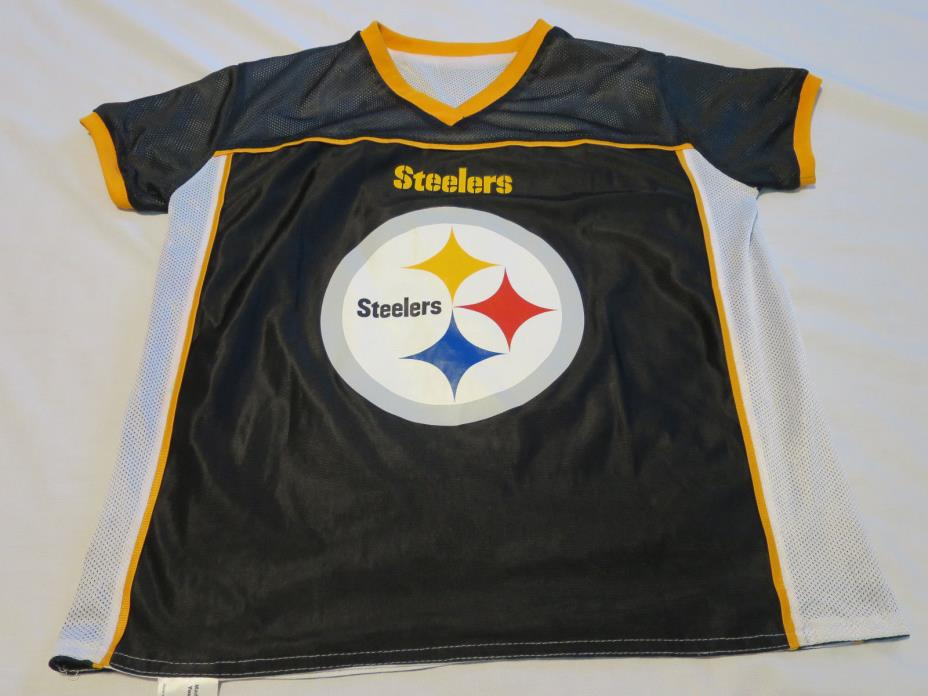Pittsburgh Steelers NFL Flag Football Reversible Black / White Jersey Youth XL