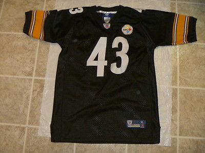 TROY POLAMALU STEELERS 43 REEBOK ONFIELD NFL XL YOUTH SEWN FOOTBALL JERSEY