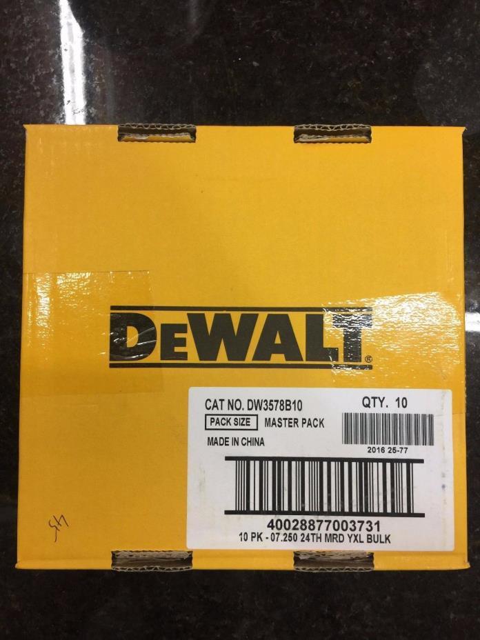 10pk 7 1/4 Framing Saw Carbide Circular Saw Blade DeWalt DW3578B10