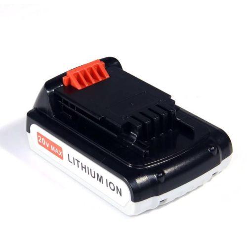 20V 2.0AH li-lon Battery for Black & Decker 20 Volt LB20 LBX20 LBXR20 Power Tool