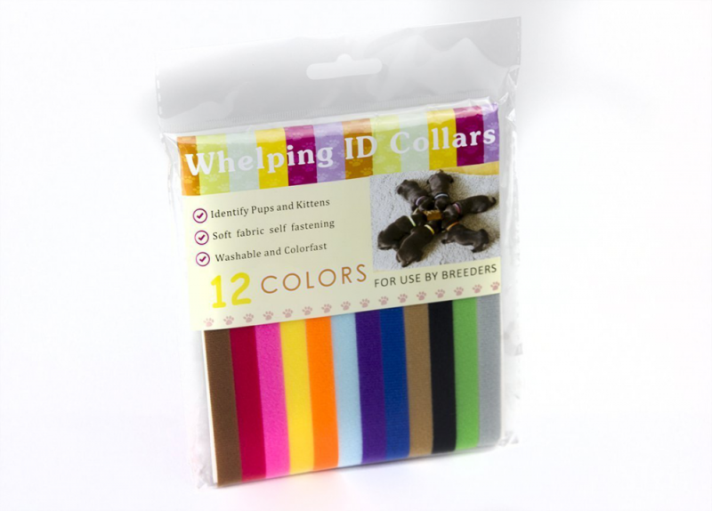 Solstice Puppy ID Collars, Whelp velcro cotton (12 Pack). Reuseable. Great for k