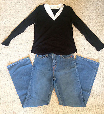Womens Juniors Clothing Lot of 2 Levi's Jeans Size 10 Riders Top Size Medium M