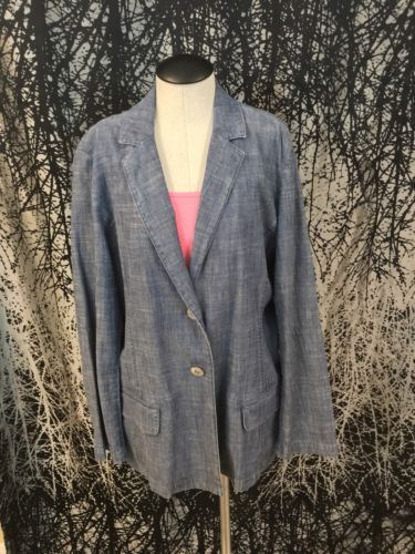 j. jill Women Blazer M medium jeans Jacket