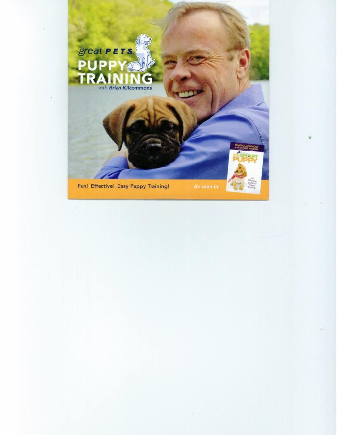 Great Pets Puppy Training DVD with Brian Kilcommons of My Smart Puppy Book