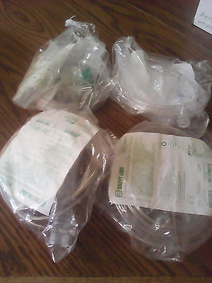 Lot of 4 Full Nebulizer Set w/Mouthpiece, Tee Adapter, Reservoir, 7' Supply Tube