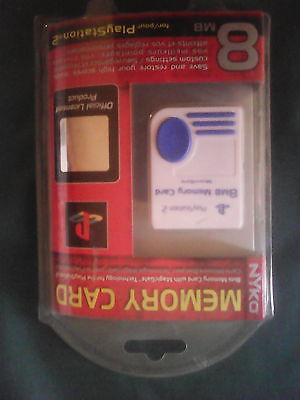 Brand New NYKO Playstation 2 PS2 Yellow 8MB Memory Card NIB Official License