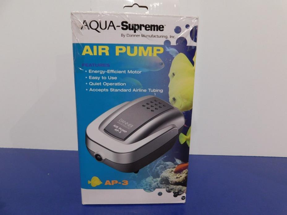 Supreme (Danner) ASP06403 Danner Aqua Supreme AP-3 Aquarium Air Pump, 3-watt