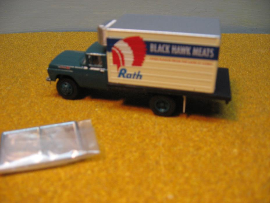 HO 1/87  CMW CUSTOM 1960 S  FORD RATH DELIVERY VAN TRUCK  ''ONE OF A  KIND''