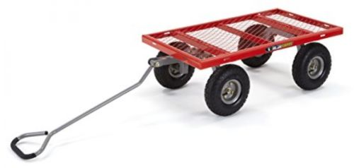 Gorilla Carts Steel Utility Cart with Removable Sides with a Capacity 800lb Red