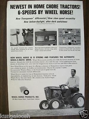 1967 WHEEL HORSE TRACTOR AD
