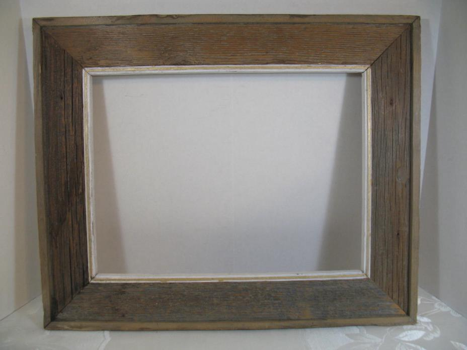 Vintage Barn Wood Frame   Made From Rustic Reclaimed Barn Wood