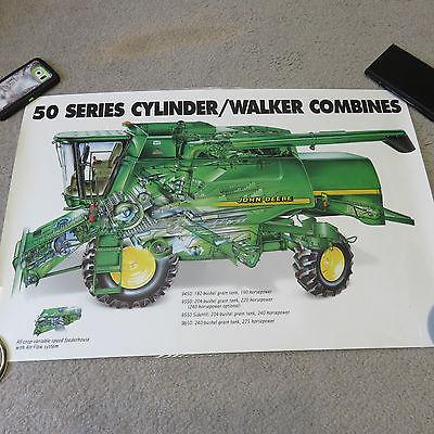 John Deere 50 Series Walker Combine Poster