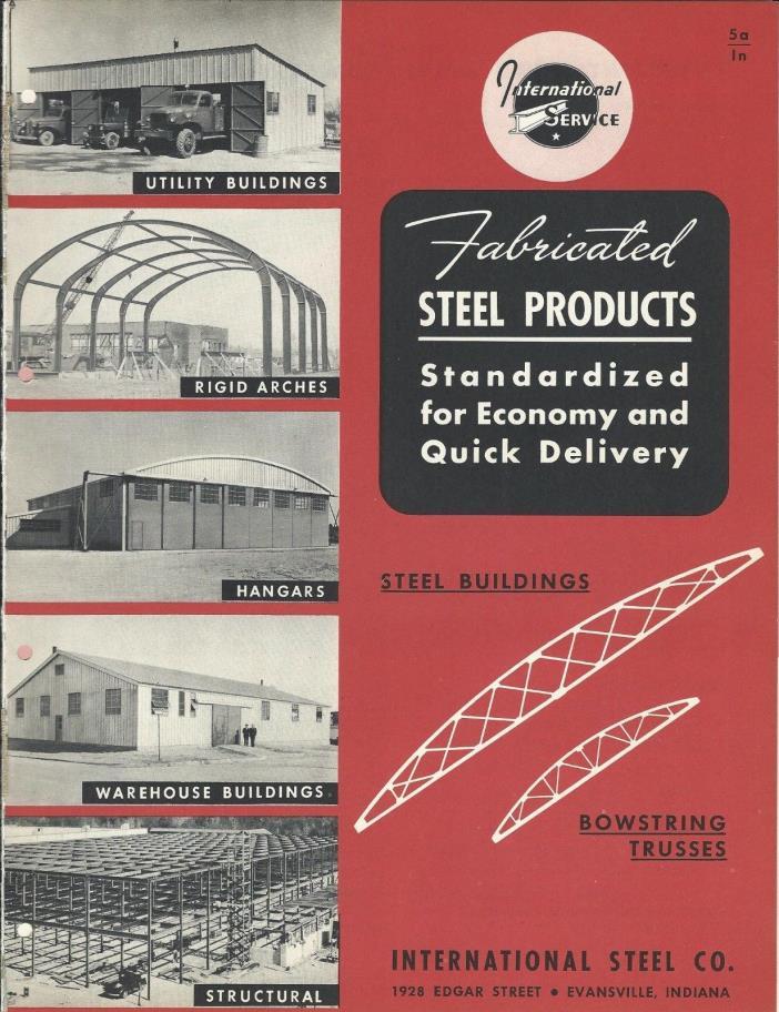 MRO Brochure - International Steel - Building Truss Hangar Arch - c1952 (MR200)