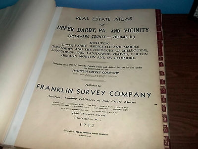Real Estate Atlas of Upper Darby, PA and Vicinity. Delaware County, Vol. 2-1942