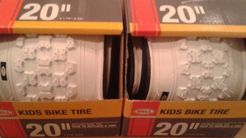 Bell Sports 7023268 20 in. BMX Bike Tire, White set of 2 Bycicle tires