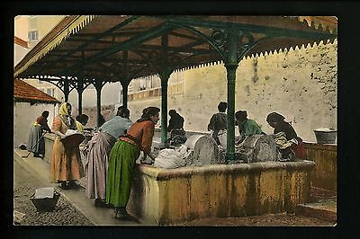 Native American Indian postcard Women washing clothes San Remo Vintage