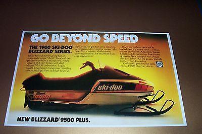 '80 SKI-DOO BLIZZARD 9500 PLUS SNOWMOBILE POSTER vintage 9500 sno-machine
