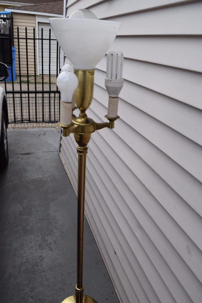 Vintage Stiffel Brass Torchiere Candelabra 6 way Pole Switch Floor Lamp