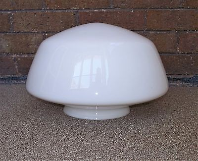 VINTAGE ANTIQUE GLASS SCHOOLHOUSE MISSION DECO CEILING LIGHT FIXTURE GLOBE