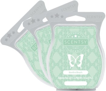 Scentsy, Bonfire Beach, Wickless Candle Tart Warmer Wax 3.2 Oz Bar, 3-pack (3)