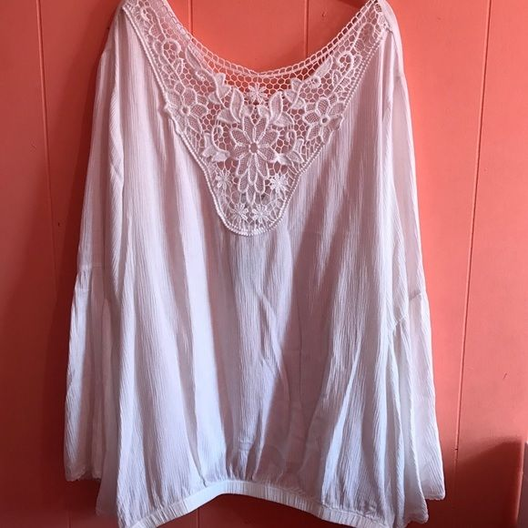 Torrid Bell Sleeve Lace Shirt Plus Size 5X