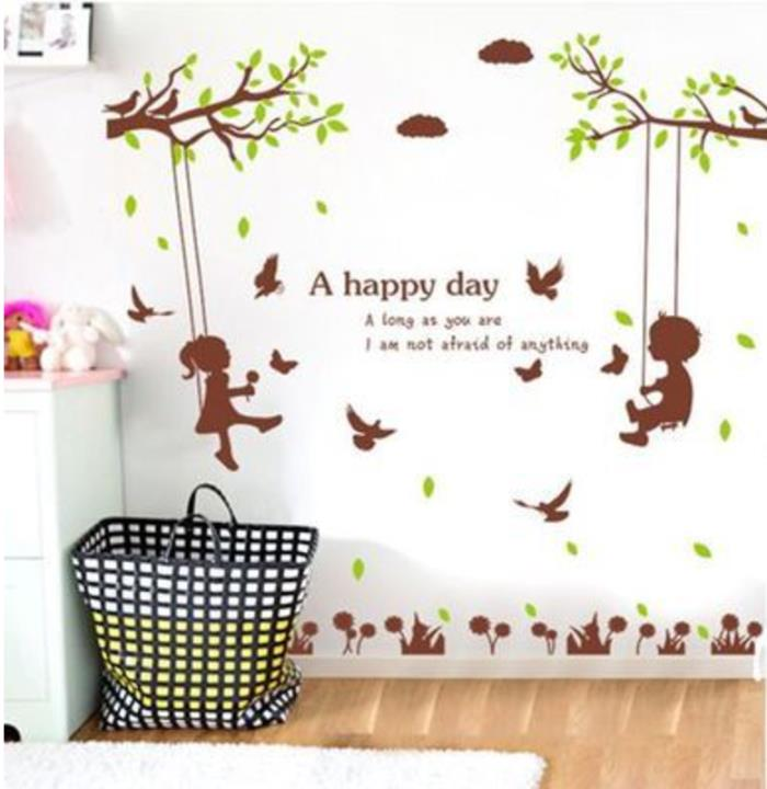 Family lovely wall sticker removable Vinyl Home Decor Sticker