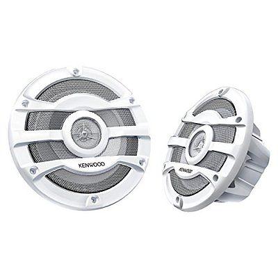 2) Kenwood 8 Inch Speakers 300 Watt PowersportsMarine Boat White Speakers