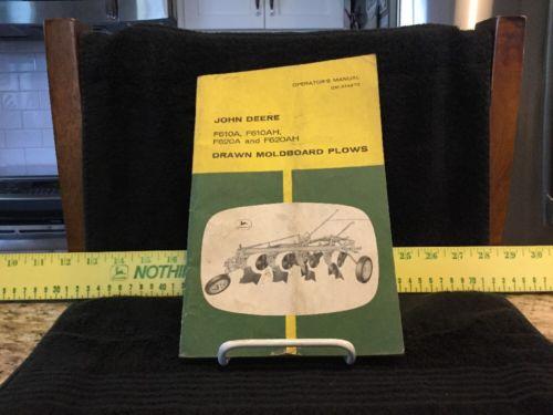 Vintage John Deere Drawn Moldboard Plows Operators Manual. OM A14970