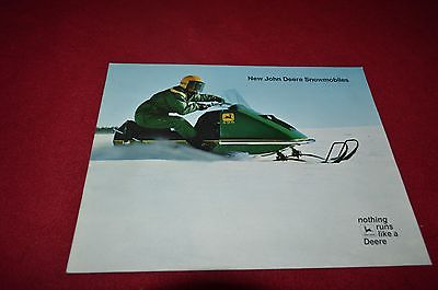 John Deere 400 500 Snowmobile Dealer's Brochure YABE12