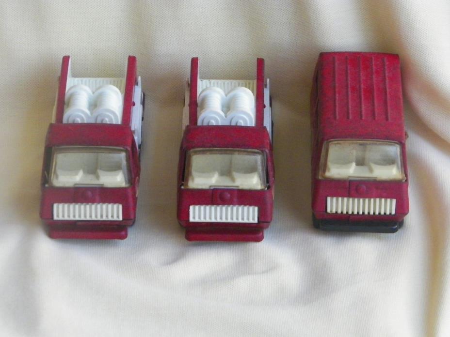 Lot of 2 Tonka Firetrucks  & 1 Tonka Van - Vintage!