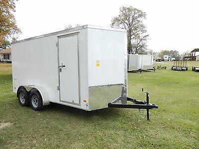 7x14 7 x 14 Cargo Enclosed Motorcycle Utiltiy UTV Trailer Trike ATV TX OK ARK LA