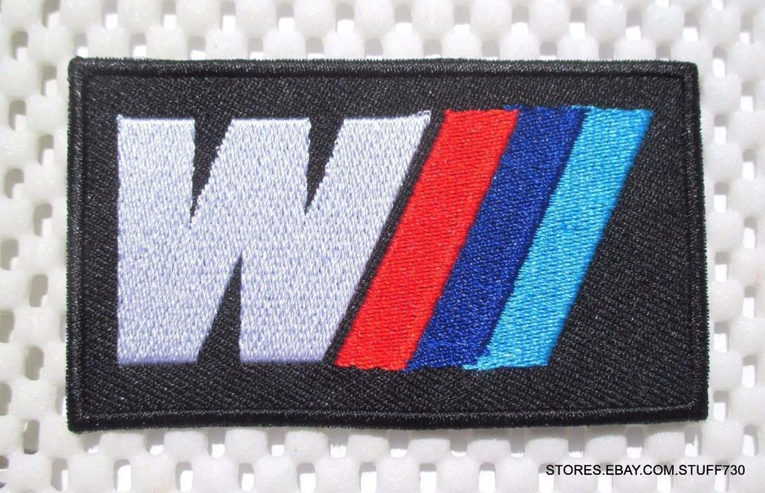 RACING EMBROIDERED SEW ON PATCH BMW M LOGO F 1 RACE LEMANS GRAND PRIX 3