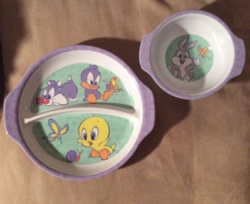 Baby Looney Tunes Plate and Bowl Zak Designs Bugs Bunny Tweety Sylvester