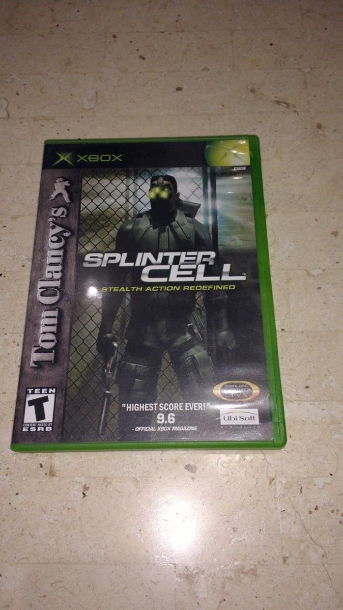 Splinter Cell Stealth Action Redefined Complete Xbox