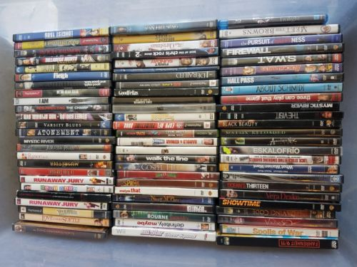 WHOLESALE BULK LOT of 130+ DVDs, Blue ray, and  PS2 games