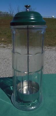 VINTAGE GEMCO GLASS STRAW HOLDER SODA FOUNTAIN JERK PANELED RETRO RESTAURANT